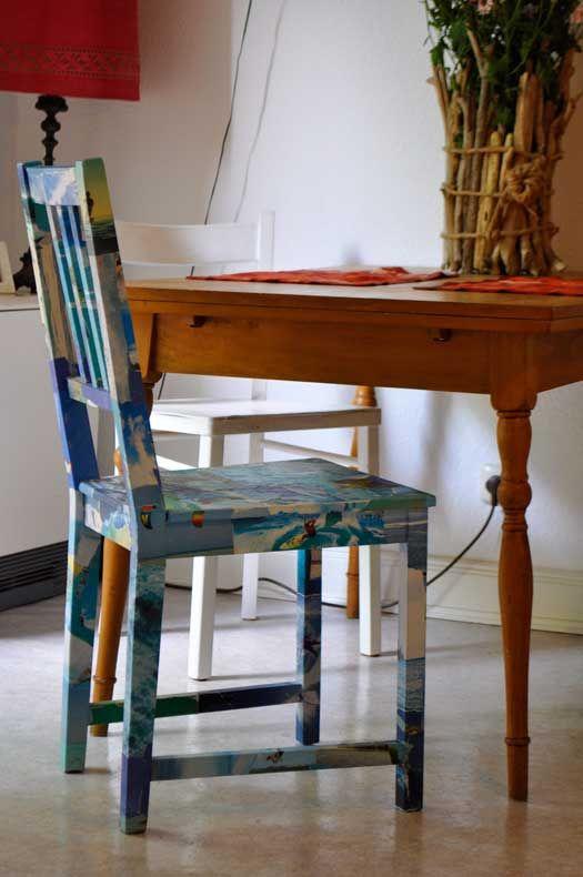 Stuhl Beklebt 2