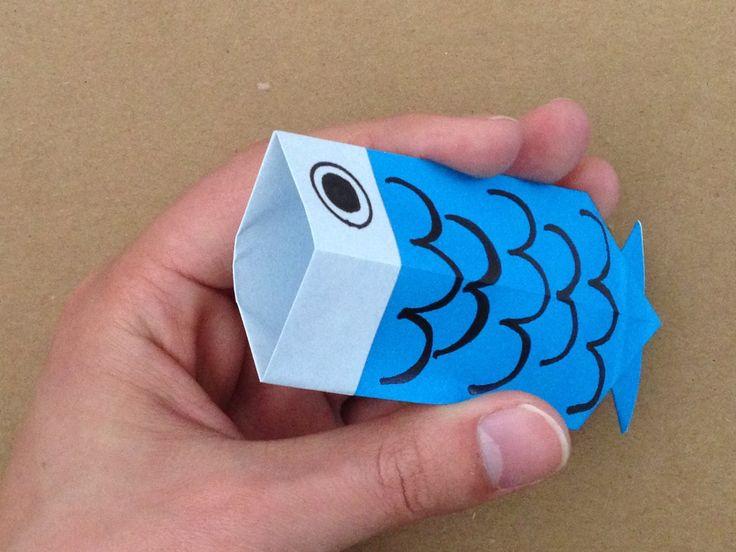 【折り紙】鯉のぼりのお菓子入れの折り方|Origmai「koinobori」