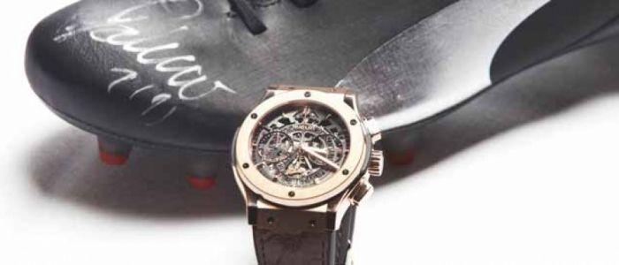 Hublot Watch Falcao Edición limitada de 100 estuches que contienen las botas Puma EvoSpeed 1.2 y un reloj de la firma suiza con fines benéficos.