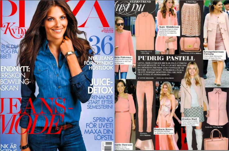 Crown Princess Victoria in MAYLA's Saskia Dress as seen in PLAZA Magazine