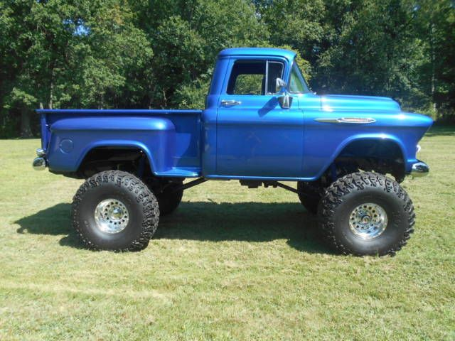 1957 Chevy Apache 4x4 Shortbed Stepside Show Truck Monster Truck For Sale Photos Technical Specifications Chevy Trucks For Sale Trucks For Sale Chevy Trucks