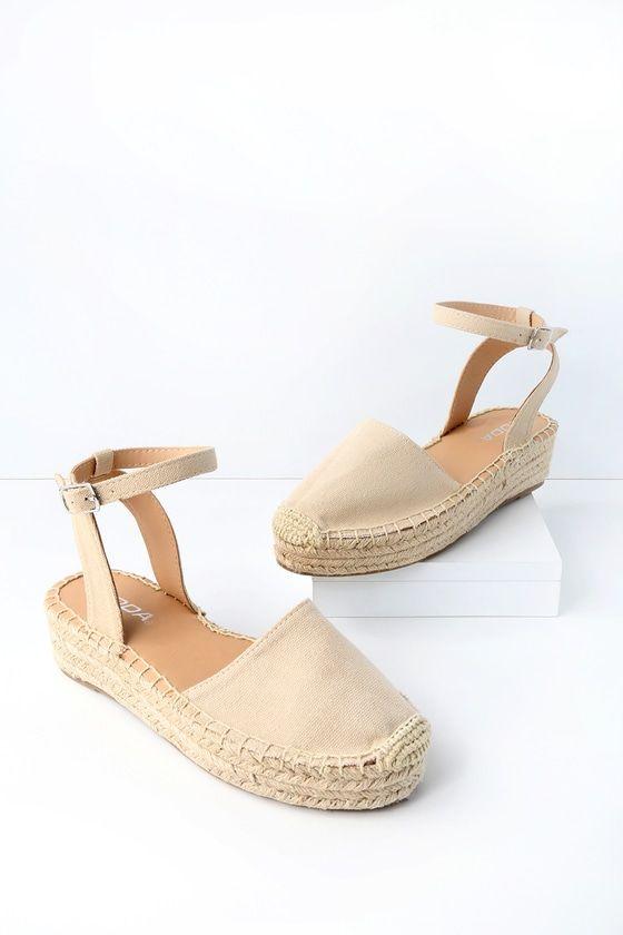 ed794204603 Lulus | Janelle Taupe Flatform Espadrilles | Size 6.5 in 2019 | for ...