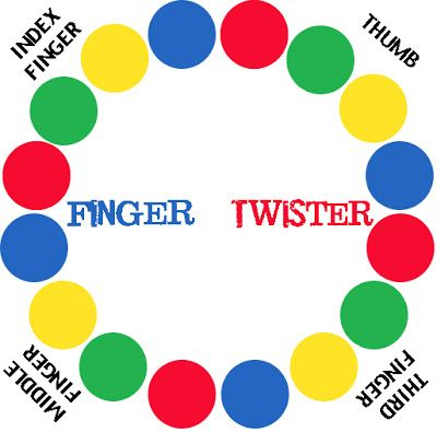 Finger Twister  Christmas 2015  made for all 3 kids and families