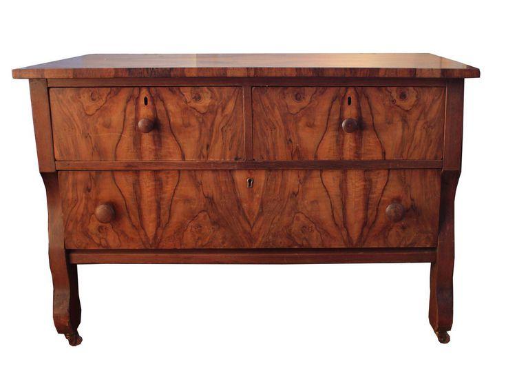 Burlwood Lowboy Chest of Drawers on Chairish.com