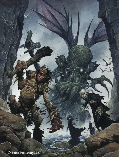Pathfinder RPG Bestiary 4 cover art by Wayne Reynolds