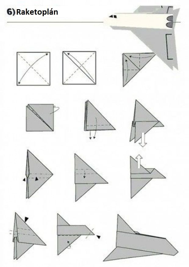 Vlaštovka z papíru - Raketoplán