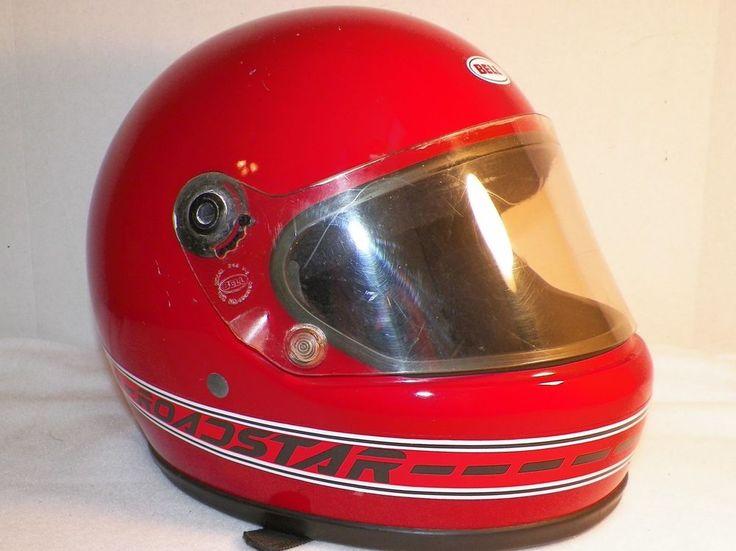 Vintage Bell Dot Motorcycle Helmet RoadStar Model 245 V8 Red  #BELL #Motorcycle