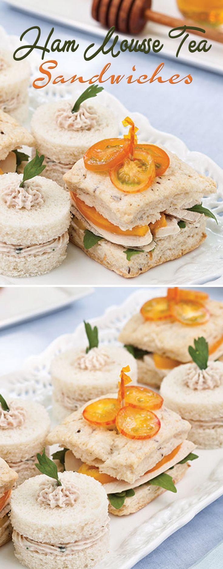 Ham Mousse Tea Sandwiches