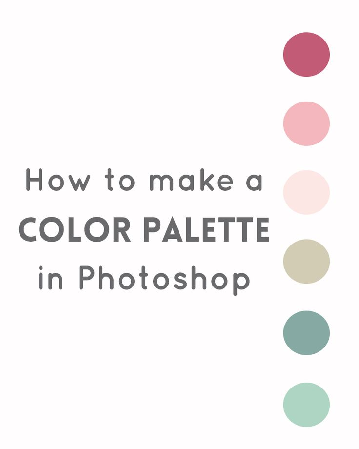 How to use color palette in Photoshop - drawing and ...