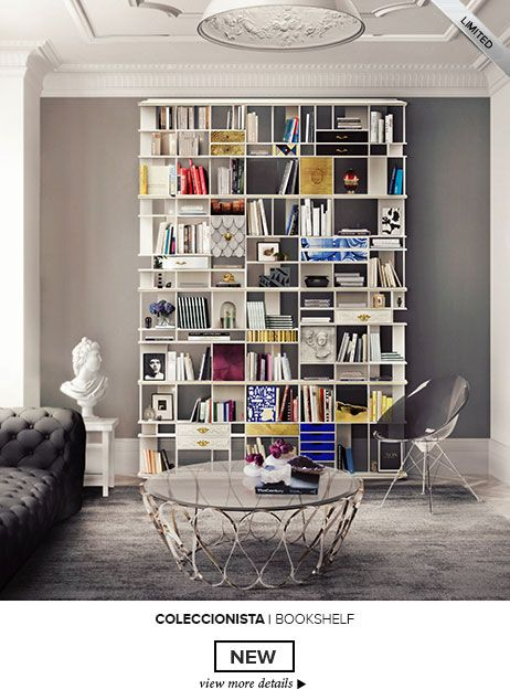 Coleccionista Bookcase Exclusive Furniture | Painted Tiles, Luxury And  Living Rooms