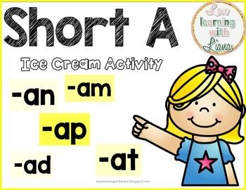 FREE! Use this short A activity to enforce the short a word families.  This will also go great during centers and RTI in older grades.