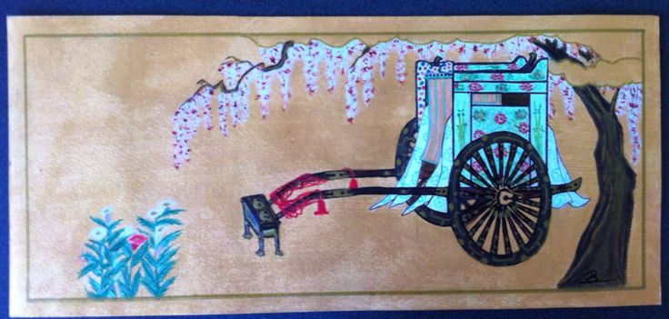 Chinese wagon, acrylic on paper, 42 x 19 cm - 26/7/2015.