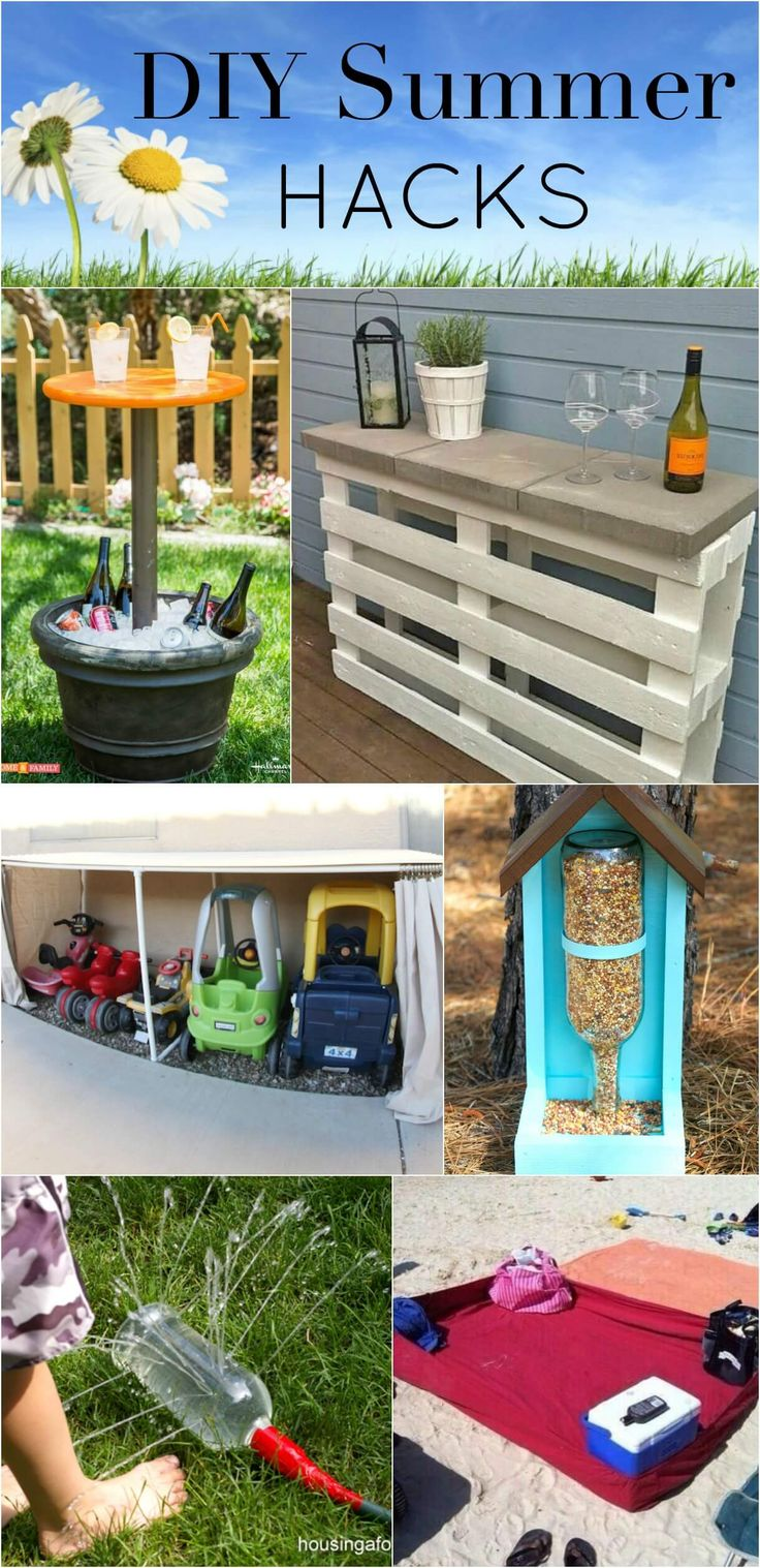 I can always tell that is it getting close when I see all of these great new summer DIY ideas popping up around the internet! These DIY Summer Hacks are some of the best and most creative that I have seen around.
