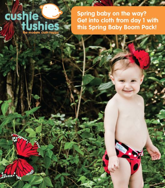 Great value pack from Cushie Tushies - the perfect way to start your cloth journey!
