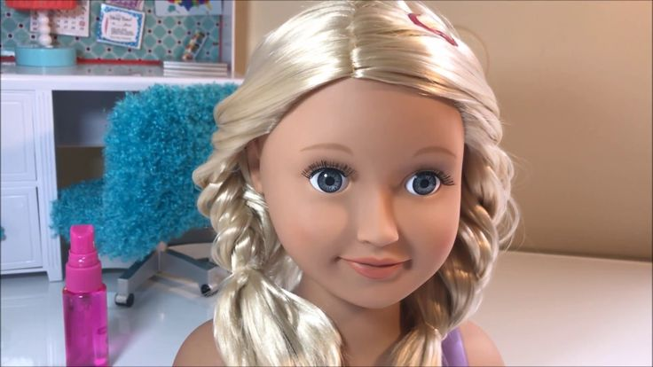 Our Generation cabeça de boneca  Penteado Trança Escama de Peixe
