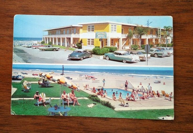 Vintage Postcard. Copacabana Motel, Daytona Beach.