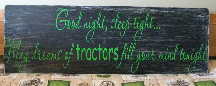 Tractor Decor For Boys Room | TractorsInMyDreamsVinylWallSign by ekelley525 on Etsy