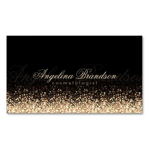 1798 best fashion business card templates images on pinterest shimmering gold cosmetologist damask black card cheaphphosting Images