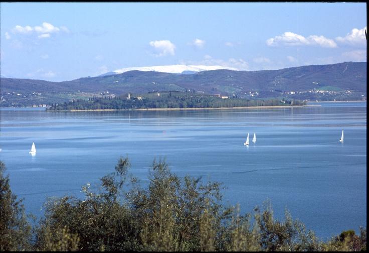 Herrlicher Lago Trasimeno - nur Segelboote erlaubt ...