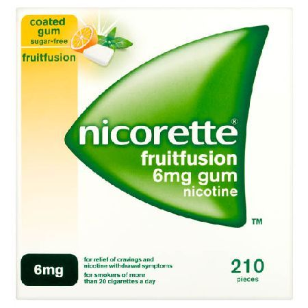 Nicorette Fruitfusion Sugar-Free Coated Gum 6mg Nicorette Fruitfusion Sugar-Free Coated Gum 6mg Nicotine 210: Express Chemist offer fast delivery and friendly, reliable service. Buy Nicorette Fruitfusion Sugar-Free Coated Gum 6mg Nicotine 210 onlin http://www.MightGet.com/january-2017-11/nicorette-fruitfusion-sugar-free-coated-gum-6mg.asp