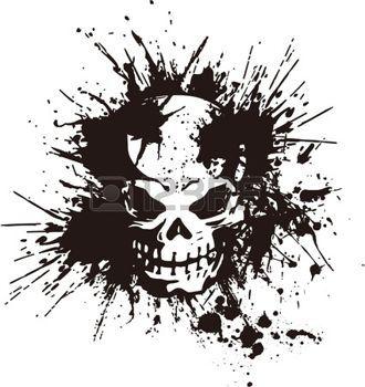 tatouage skulls: éclaboussures et le crâne