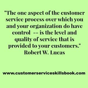 Customer Service Quality Quote – Robert W. Lucas