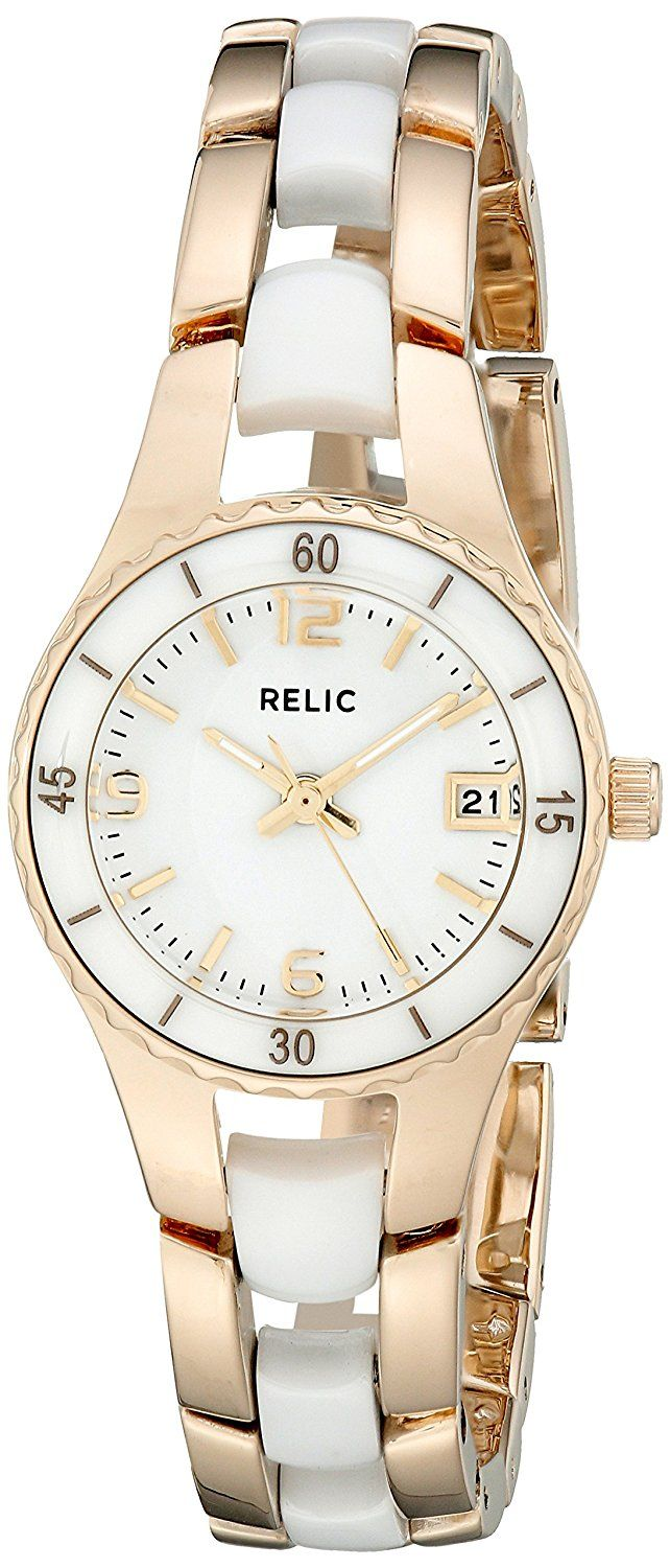 Relic Women's ZR12157 Charlotte Goldtone Watch -- You can find out more details at the link of the image.