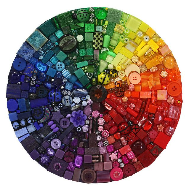 "Amazing colour wheel by the artist Lynn Pattison ("",)"