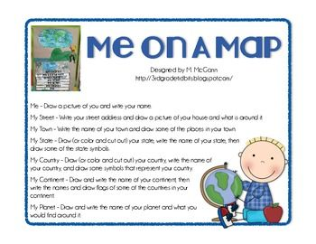 69 best Me on a map (SS and ELA cross lesson) images on Pinterest
