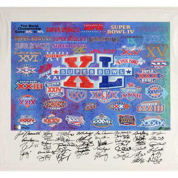 NFL Fanatics Authentic Super Bowl MVP Multi-Signed Super Bowl XL Giclee with 43 Signatures - $9999.99