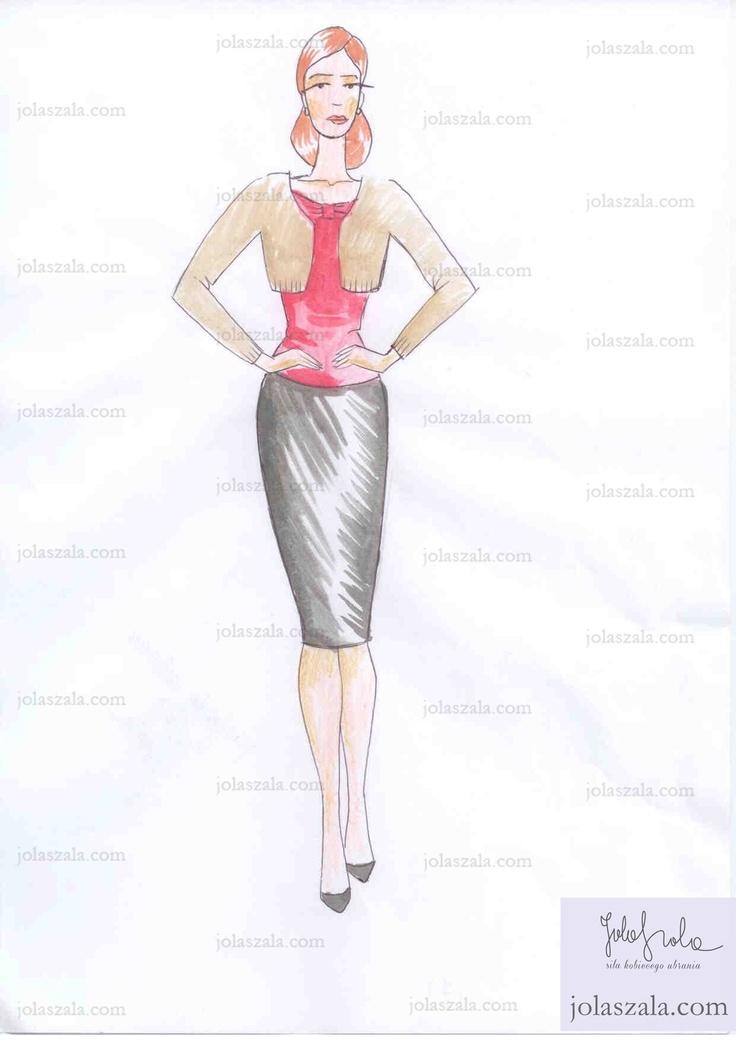- Zawsze dobrze wygląda ołówkowa spódnica, bluzka i mały żakiecik. Ważne, by wszystko mieściło się w ustalonej gamie kolorystycznej. Takie ubranie łatwo wtedy zestawiać z innymi elementami garderoby. on Jola Szala - Siła kobiecego ubrania  http://jolaszala.com/porady-joli/jak-ubrac-sie-na-impreze/#sg6