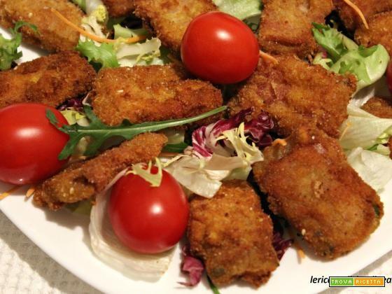 Bietole da costa fritte con pancetta affumicata  #ricette #food #recipes