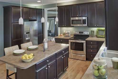 This kitchen is so spacious love the island lots of for Kitchen design visit