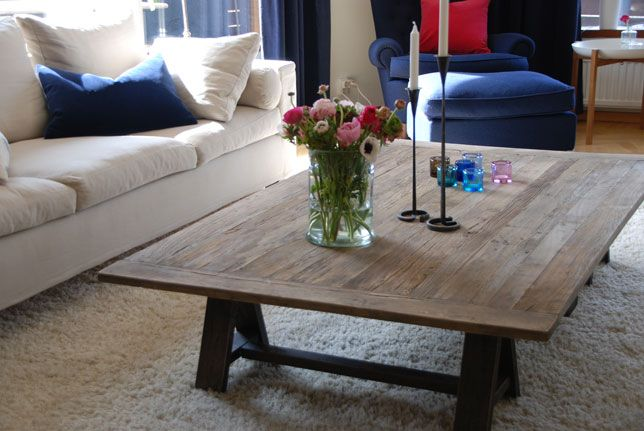 soffbord återvunnet trä  naturmaterial