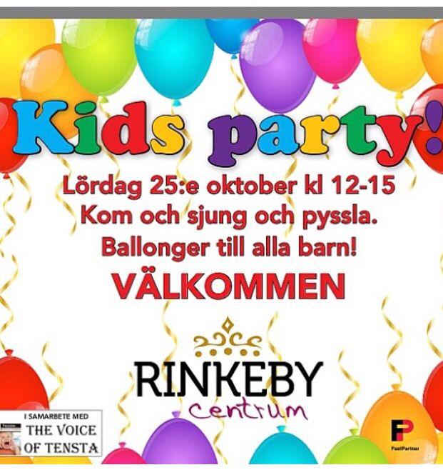 Kids parti i Rinkeby C lör 25 okt!