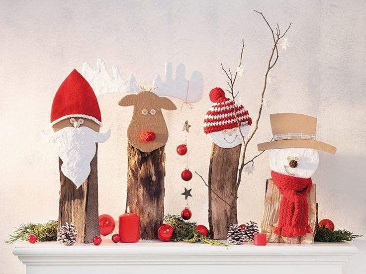 DIY-Anleitung: Weihnachtsfiguren aus Brennholz basteln via DaWanda.com