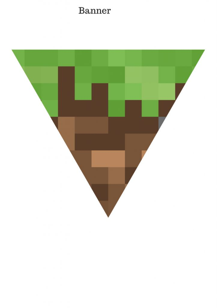 It's just a photo of Influential Free Printable Chevron Banner Minecraft
