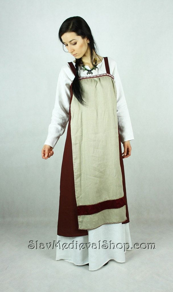 Scandinavian Apron Dress, Early Medieval , Viking Dress, for Viking Reenactors, Viking Costume by SlavMedievalShop on Etsy