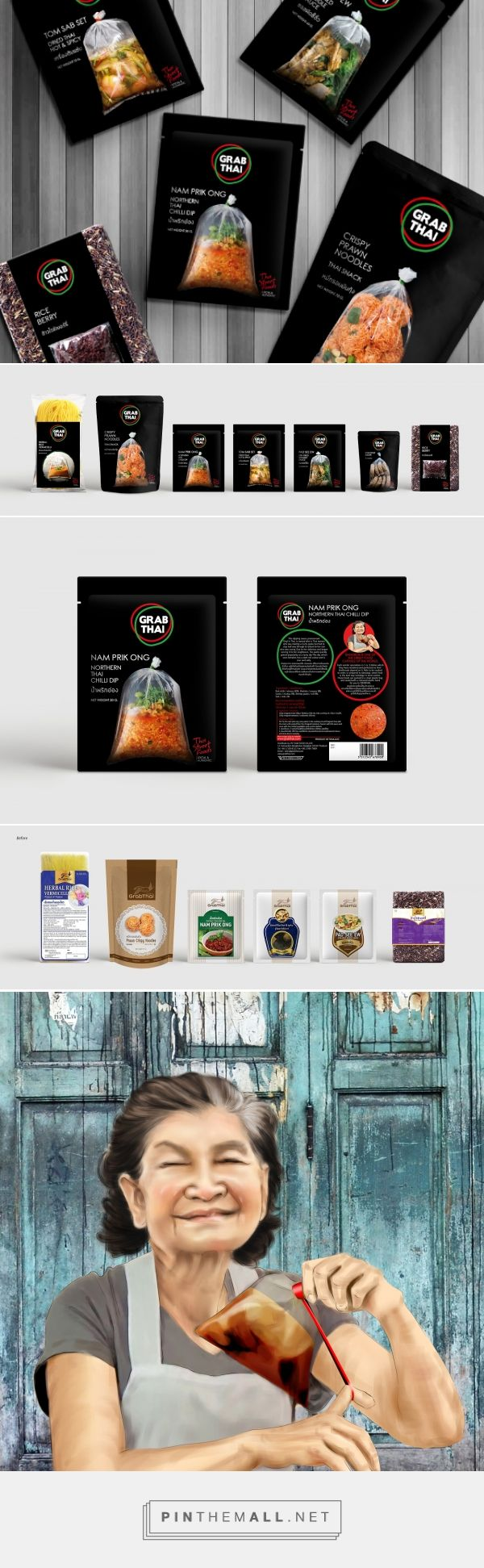 Before & After - Grab Thai packaging design by Prompt Partners - https://www.packagingoftheworld.com/2018/03/grab-thai.html