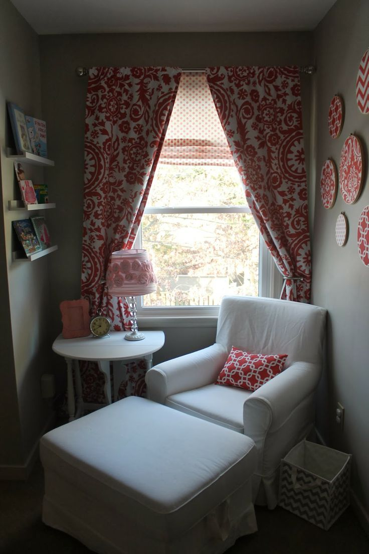 Magnolia mommy made coral and gray nursery reveal ikea for Faux palmier ikea