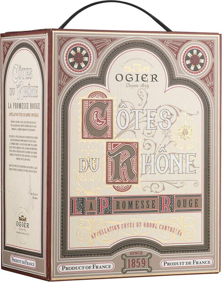 Ogier Côtes du Rhône La Promesse Rouge 2013 hanapakkaus