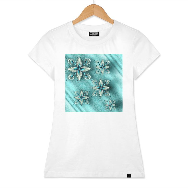 Discover «Turquoise jewels #1», Numbered Edition Women's Classic T-Shirt by RUKHSANA RAFTOPOULOS - From $25 - Curioos