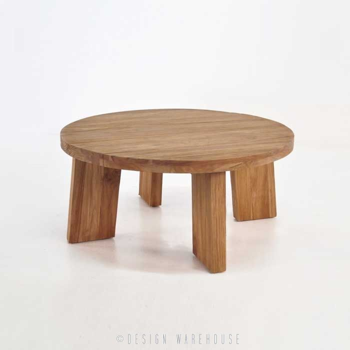 Blok Round Reclaimed Teak Coffee Table - Coffee Tables - Accessories