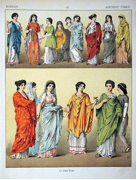 Abbigliamento femminile antica Roma - abbigliamento maschile antica Roma - abbigliamento militare antica Roma