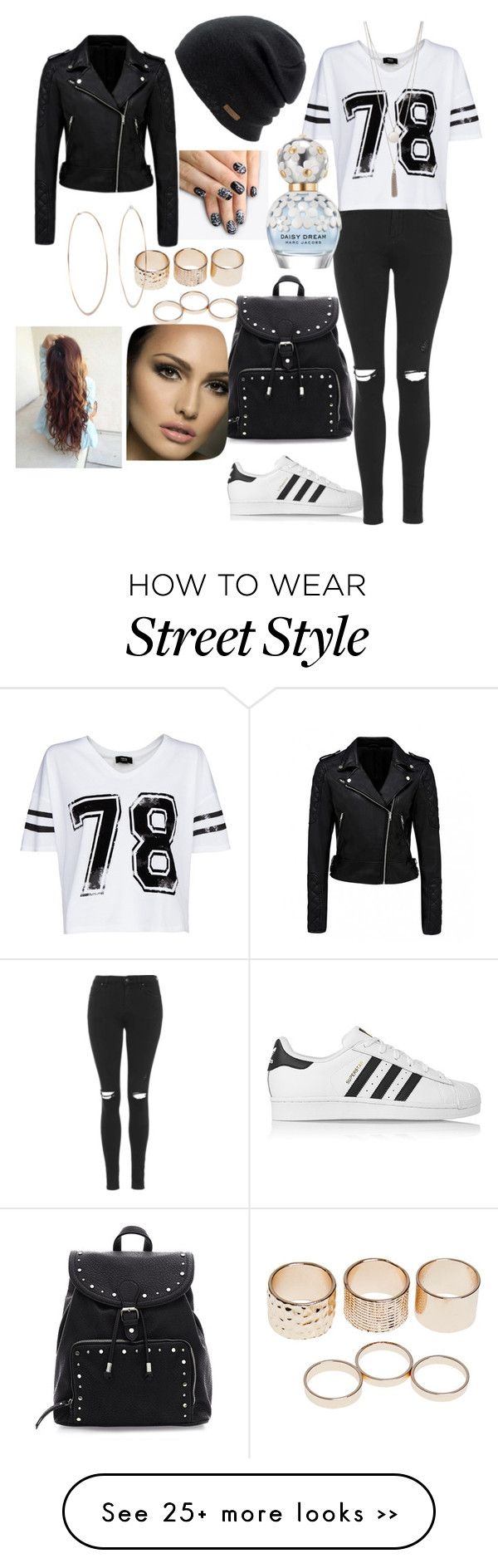 """Street style #5"" by michelle1608 on Polyvore featuring Topshop, MANGO, adidas Originals, Coal, Forever New, Wet Seal, Michael Kors, alfa.K and Marc Jacobs"