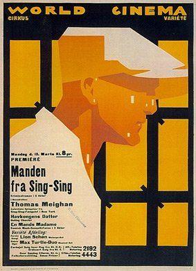 """""""World Cinema"""", varietè, première by Sven Brasch (b.1886 - d.1970, Dansk)"""