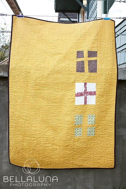 Wonky Cross Quilt {back} by kerry {bellalunaphotography}, via Flickr