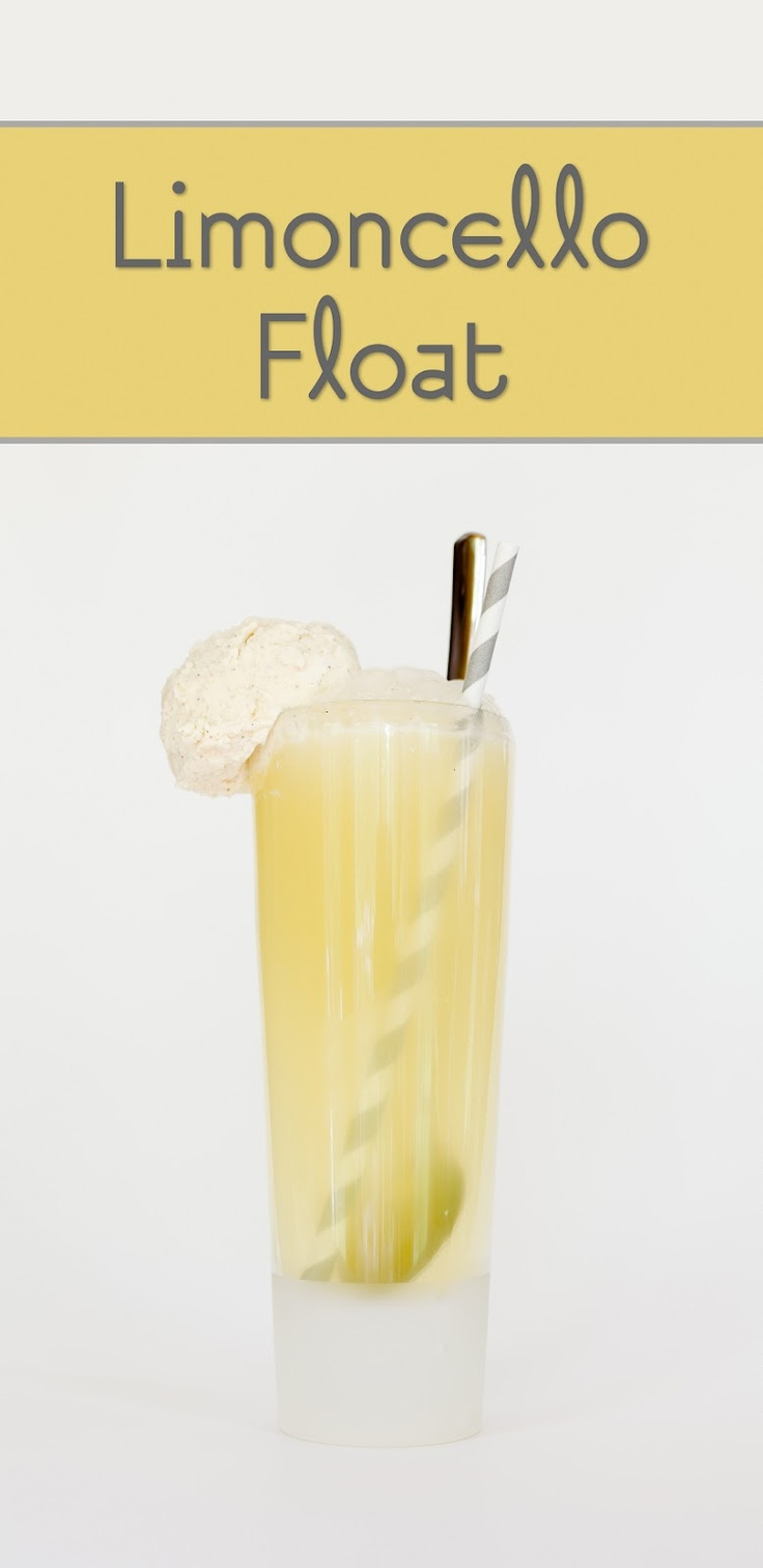 Limoncello Ice Cream Floats ~ Cupcake Project