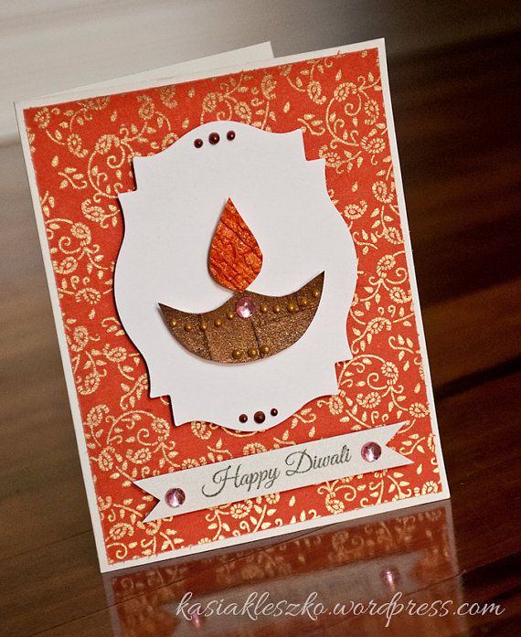 Handmade Diwali card on Etsy