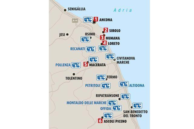 Wohnmobil Tour Nach Marken In Mittelitalien Marken Italien